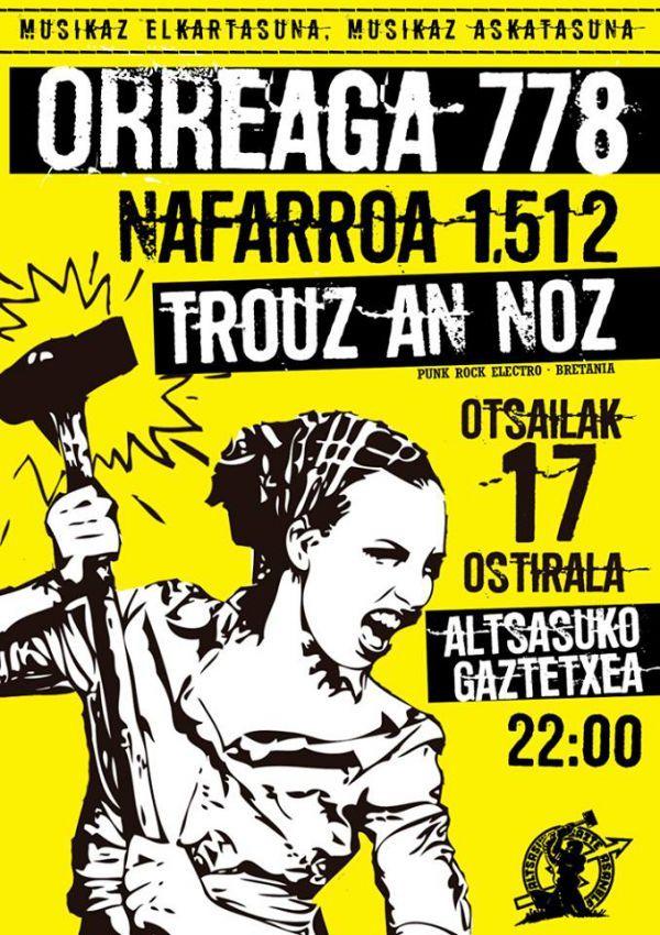 Orreaga 778 + Trouz An Noz + Nafarroa 1512