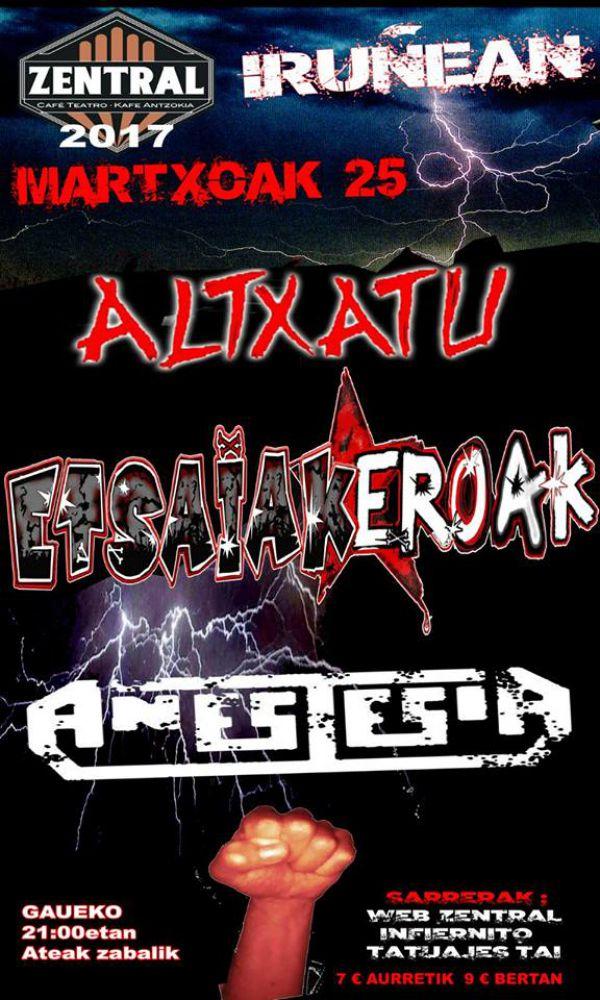 Anestesia + Altxatu + Etsaiakeroak
