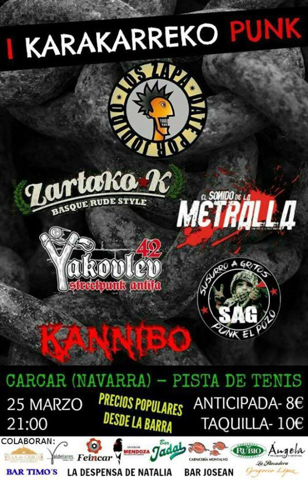 Los Zapa + Zartako-K + El Sonido de la Metralla + Yakovlev 42 + Susurro a Gritos + Kannibo