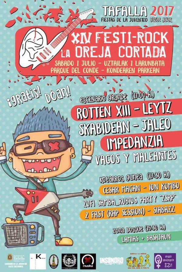XIV Oreja Cortada: Impedanzia + Skabidean + JaleO + Leytz + Rotten XIII + Vagos y Maleantes
