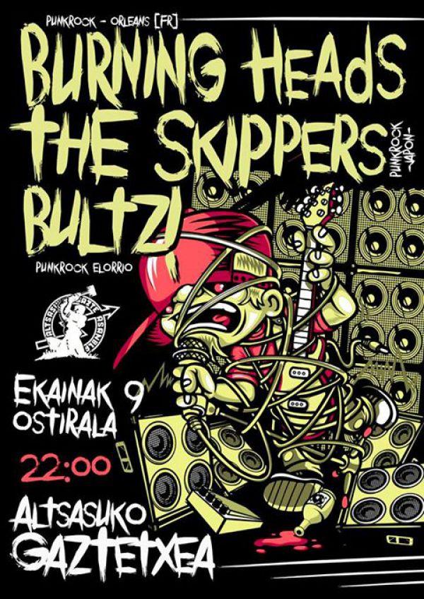 The Skippers + Burning Heads + Bultz!
