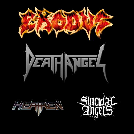 EXODUS - DEATH ANGELS - HEATHEN - SUICIDAL ANGELS