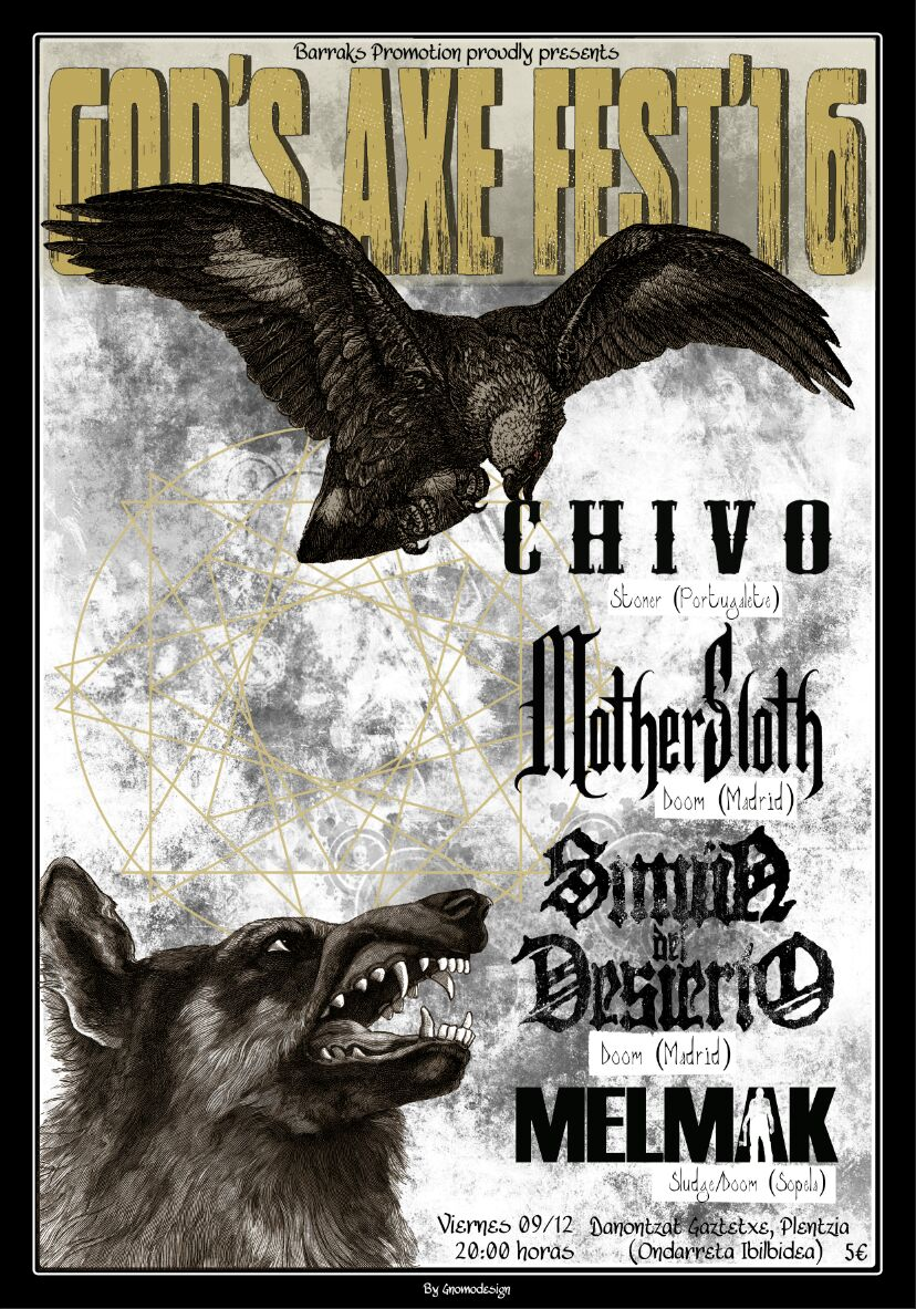 III God's Axe Fest: Chivo + MotherSloth + Simón del Desierto + Melmak