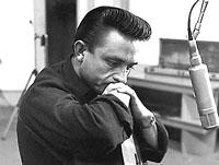 Johnny Cash gaztetan grabaketa gelan