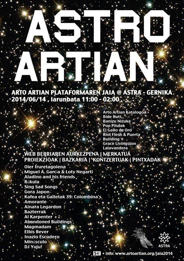 Astro Artian, ohikoak ez diren musikak Gernikako Astran gozagai.