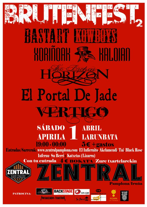 Bastart Kowboys + Xoriñoak Kaloian + The Broken Horizon + El Portal de Jade + VertiGo