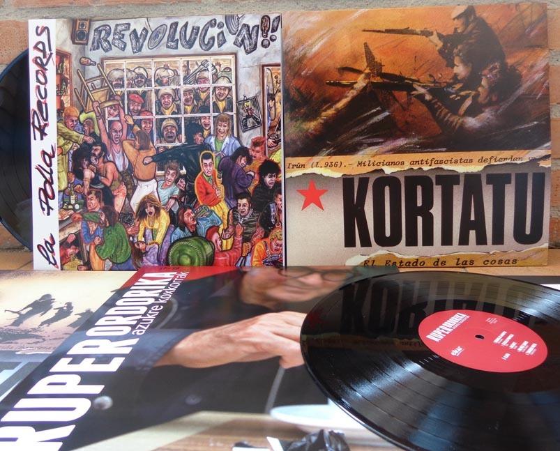 La Polla Records, Kortatu eta Ruper Ordorika biniloan.