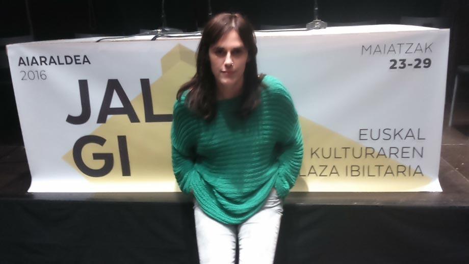 Maria Rivero da Jalgiko koordiantzailea. Argazkia: Myriam Garzia.