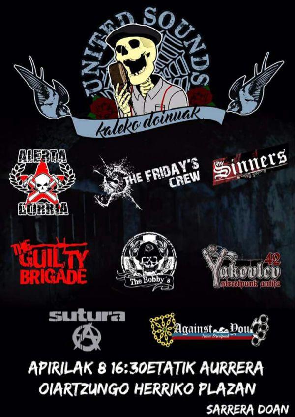 Alerta Gorria + The Fridays Crew + Sinners + The Guilty Brigade + The Bobbys + Yakolev 42 + Sutura +