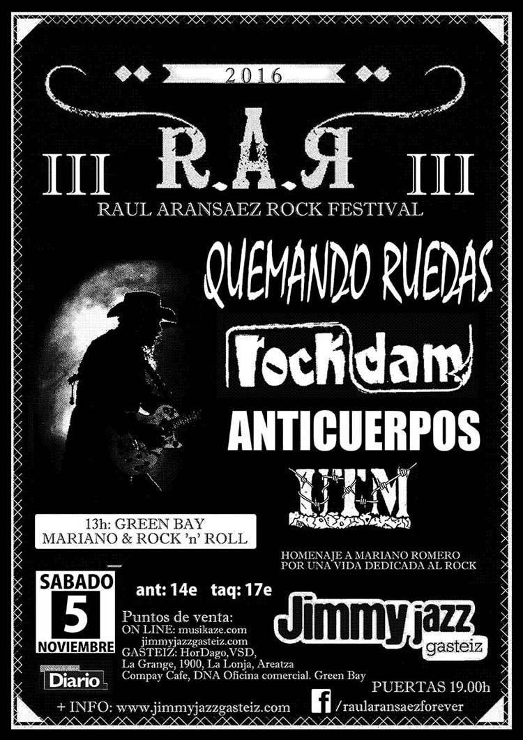 Raúl Aransáez Rock Festival 2016
