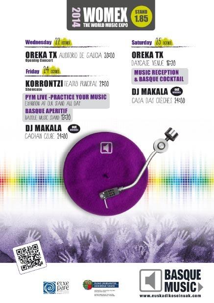 Womex-en Orekata TX, Korrontzi eta Makala daude Euskadiko Soinuak programaren bitartez.