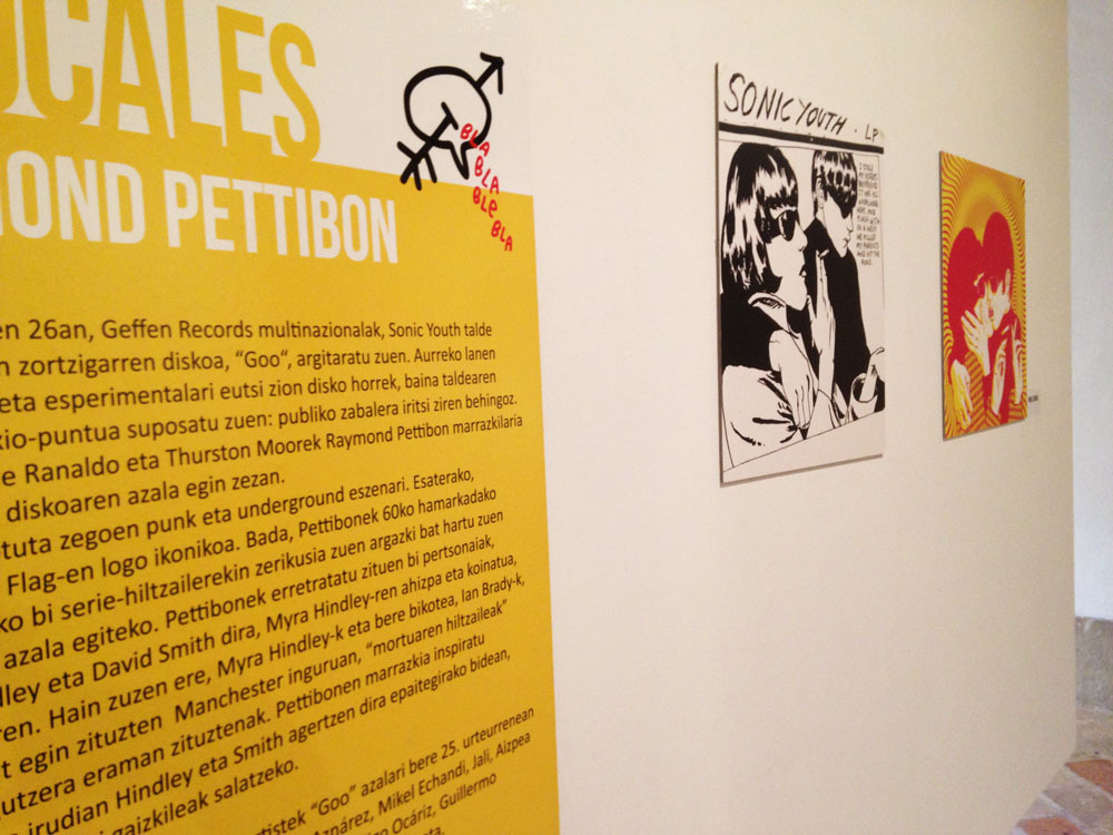 Pettibon ilustratzaileari omenaldia egin diote. Argazkiak: Entzun!